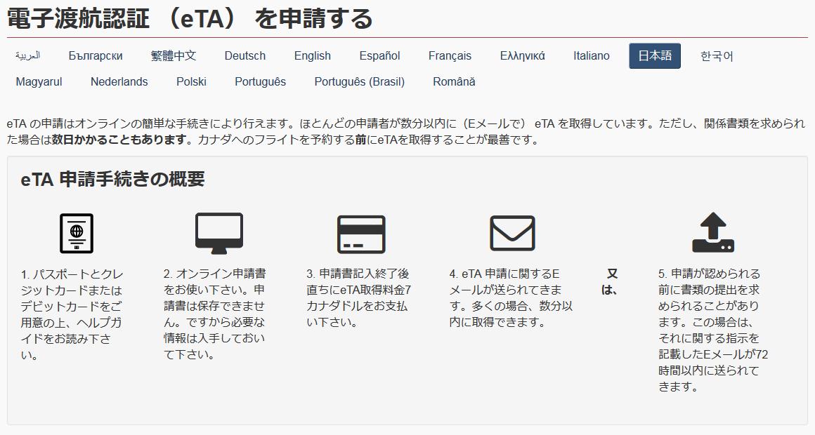 eTA申請マニュアル
